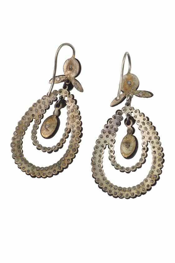 Um 1860 – Cut Steel Ohrringe, aus facettiertem & poliertem