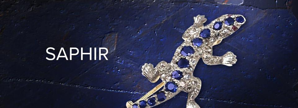 Antiker Saphir-Schmuck in Eidechsenform