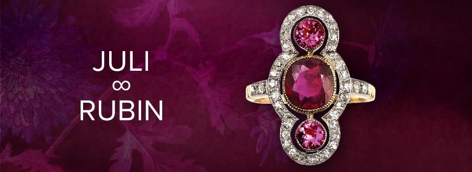 Geburtsstein für Juli: Rubin-Ring