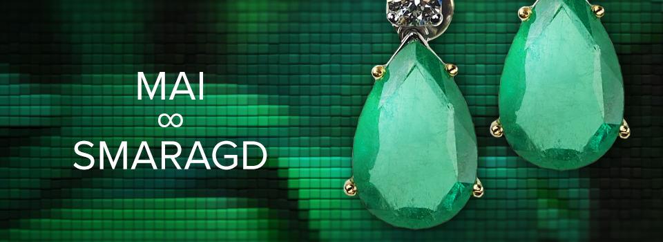 Geburtsstein für Mai: Smaragd-Ohrringe