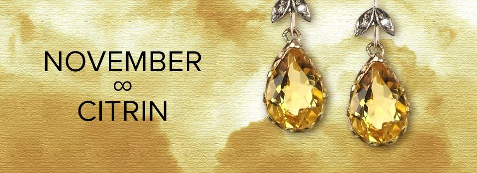 Geburtsstein für November: Schmuck mit Citrin