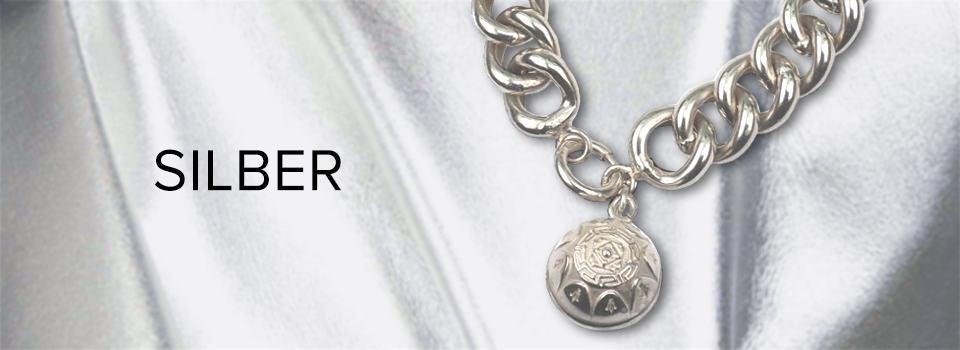 Antiker Silber-Schmuck: Kette mit Anhänger