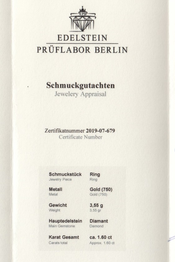 1784-Zertifikat