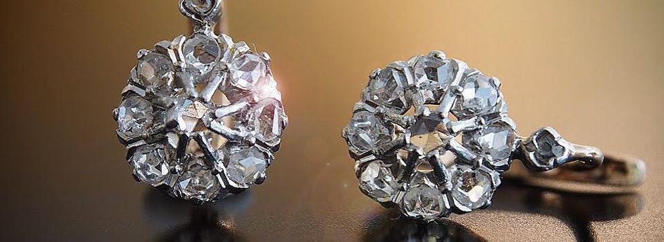Antike Ohrringe kaufen: Bild zwei toller Ohrringe von Antique Jewellery